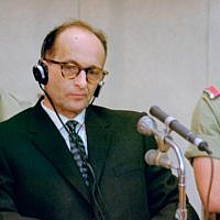 Adolf Eichmann during his trial in Jerusalem (public domain)