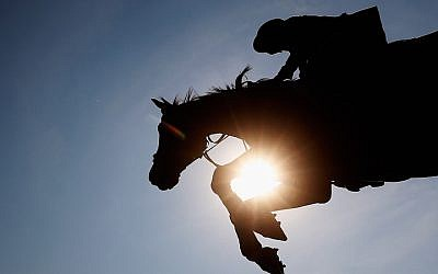 Illustrative image of an equestrian event. (Dean Mouhtaropoulos/Getty Images via JTA)