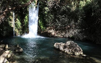 Waterfall at the Banyas Nature Reserve in the upper Galilee. Israel (iStock)