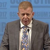 Israel's Ambassador to Norway Raphael Schutz (YouTube screenshot)