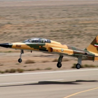 Illustrative: Iran's Kowsar fighter jet. (Twitter screen capture)
