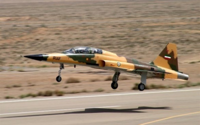 Iran's Kowsar fighter jet. (Twitter screen capture)