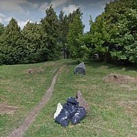 The Jewish cemetery in Šiauliai, Lithuania. (screen capture: Google Street View)