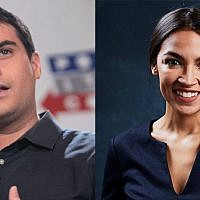 Ben Shapiro, left, offered $10,000 to a charity of Alexandria Ocasio-Cortez's choice or her campaign if she agreed to debate him. (Wikimedia Commons)