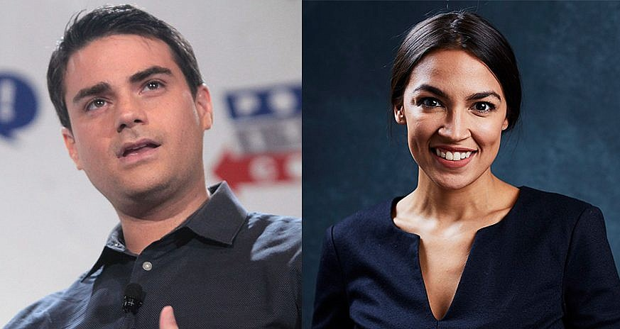 Ben Shapiro left offered $10,000 to a charity of Alexandria Ocasio-Cortez's choice or her campaign if she agreed to debate him