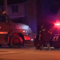 South Euclid Police SWAT Team on the scene where two persons of interest were found dead, August 11, 2018 (YouTube screenshot WKYC Channel 3)