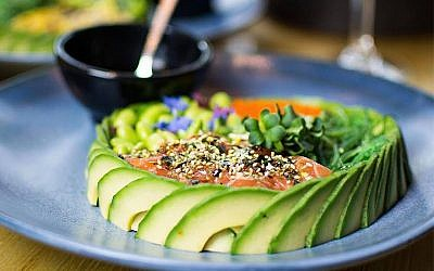 The poke bowl dish at The Avocado Show in Amsterdam is among the the many images patrons share on social media. (Courtesy of The Avocado Show)