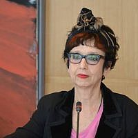 New York University professor Avital Ronell. (Alfred Herrhausen Gesellschaft/Facebook via JTA)