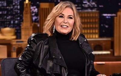 "Roseanne Barr at ""The Tonight Show Starring Jimmy Fallon"" in New York, April 30, 2018. (Theo Wargo/Getty Images for NBC via JTA)"