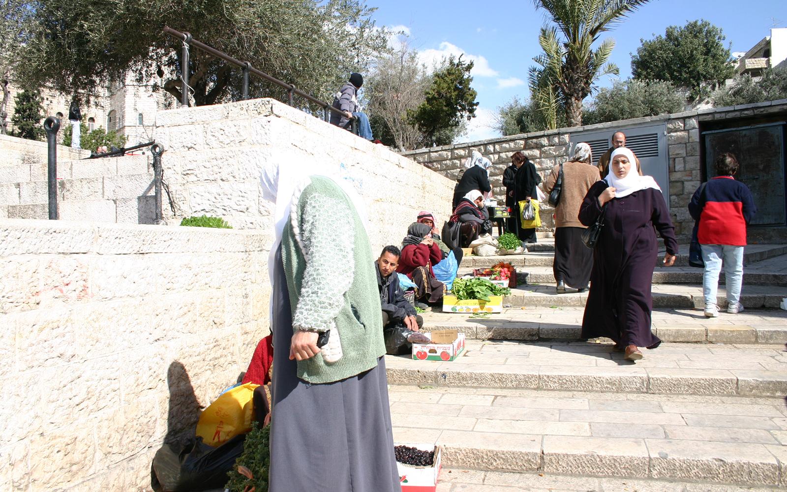 The steps leading to Jerusalem's Damascus Gate. (Shmuel Bar-Am)