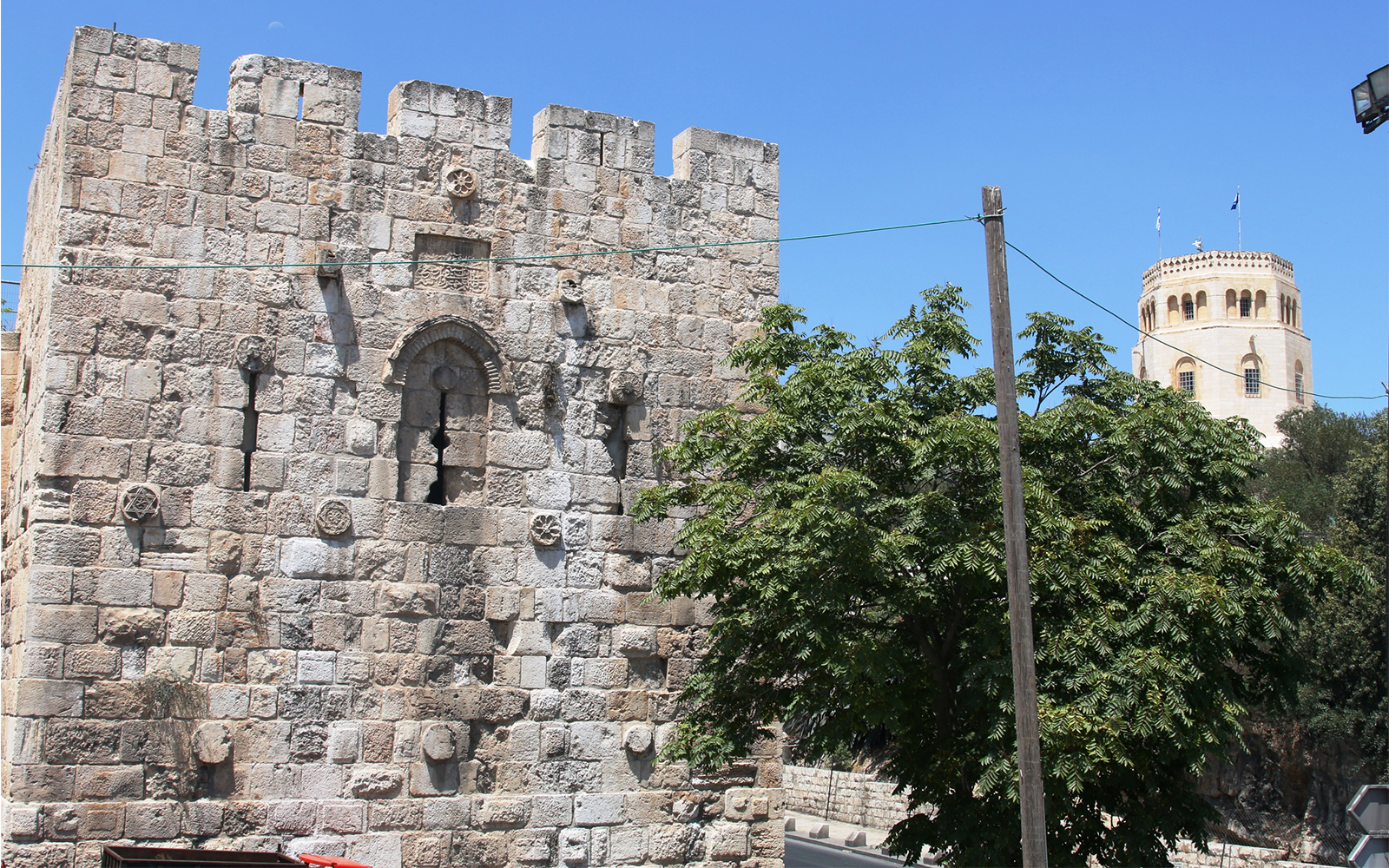 The Stork Tower, likely named for migratory birds who rested on its battlements. (Shmuel Bar-Am)