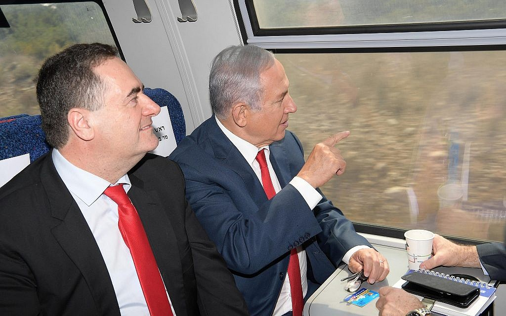Netanyahu takes maiden voyage on Jerusalem to Tel Aviv fast train | The Times of Israel