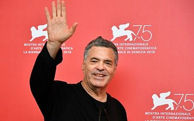 "Israeli director Amos Gitai attends a photocall for the film ""A Letter to a Friend in Gaza,"" presented out of competition on September 3, 2018, during the 75th Venice Film Festival, at Venice Lido. (AFP Photo/Alberto Pizzoli)"