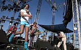 In this photo taken on April 27, 2007, musician Kevin Barnes, of rock group Of Montreal performs during the Coachella Music Festival held at the Empire Polo Field in Indio, California. (AFP/Getty Images of North America/Frazer Harrison)