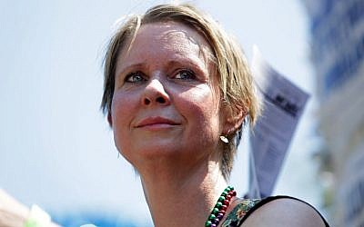 In this file photo taken on September 3, 2018 Cynthia Nixon, candidate for New York Governor, participates in the annual West Indian Day Parade  in the Brooklyn borough of New York City. (AFP PHOTO / GETTY IMAGES NORTH AMERICA / Yana Paskova)