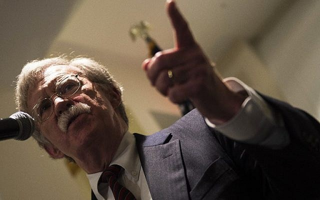 US National Security Advisor, John Bolton, speaks to the Federalist Society  in Washington DC on September 10, 2018. (AFP PHOTO / ANDREW CABALLERO-REYNOLDS)