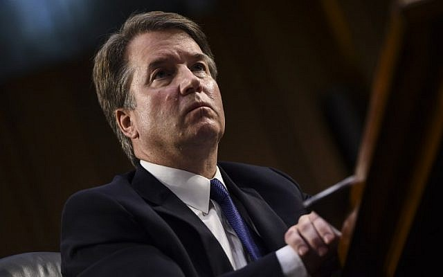 In this file photo taken on September 4, 2018 Judge Brett Kavanaugh looks on during his US Senate Judiciary Committee confirmation hearing to be an Associate Justice on the US Supreme Court, on Capitol Hill in Washington, DC. (AFP/ Brendan SMIALOWSKI)