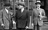 This file photo taken in October 1939 shows French politicians Pierre Laval (R), Marcel Deat (C) and Adrien Marquet, future high ranking politicians of the Vichy regime. (AFP PHOTO)