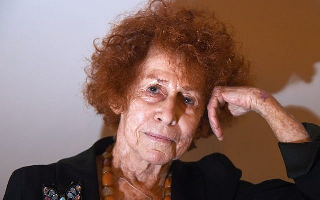 In this file photo taken on January 15, 2015 French survivor of the Auschwitz-Birkenau camp Nazi concentration camp, film director and novelist Marceline Loridan-Ivens, poses in Paris (AFP PHOTO / DOMINIQUE FAGET)