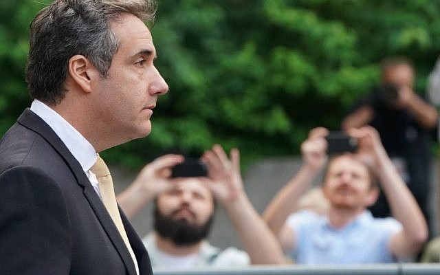 In this file photo taken on August 21, 2018, Michael Cohen, former personal lawyer for US President Donald Trump, leaves federal court on August 21, 2018, in New York. (AFP PHOTO / Don Emmert)