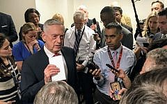 US Secretary of Defense Jim Mattis speaks to reporters at the Pentagon September 24, 2018 in Washington, DC.  (AFP / Thomas WATKINS)