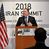 US Secretary of State Mike Pompeo speaks at the United Against Nuclear Iran Summit in New York on September 25, 2018. (AFP PHOTO / MANDEL NGAN)