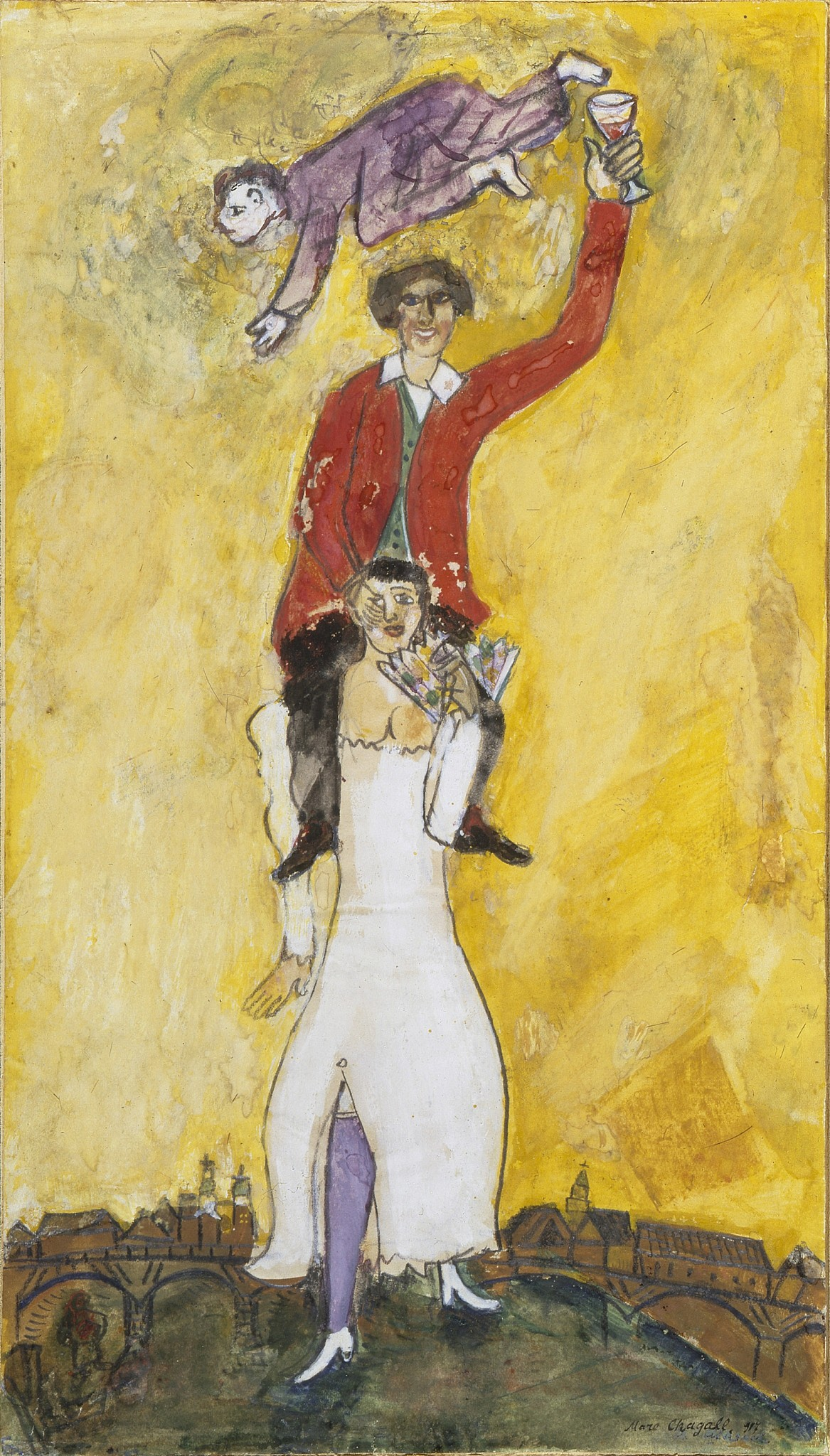 After the Russian Revolution, Chagall ran an art school for the ...