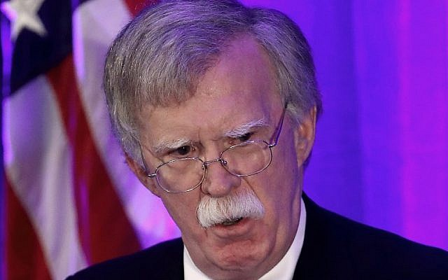 US National Security Adviser John Bolton speaks at a Federalist Society luncheon at the Mayflower Hotel September 10, 2018 in Washington, DC. (Win McNamee/Getty Images/AFP)