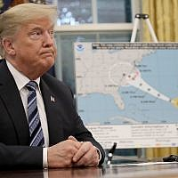 US President Donald Trump speaks in the Oval Office in Washington, DC,  September 11, 2018. (Win McNamee/Getty Images/AFP)