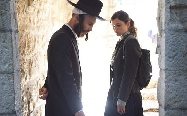 Actors Joy Rieger (right) and Nathan Goshen in Avi Nesher's latest, 'The Other Story,' opening the 34th Haifa Film Festival on September 22, 2018 (Courtesy Iris Nesher)