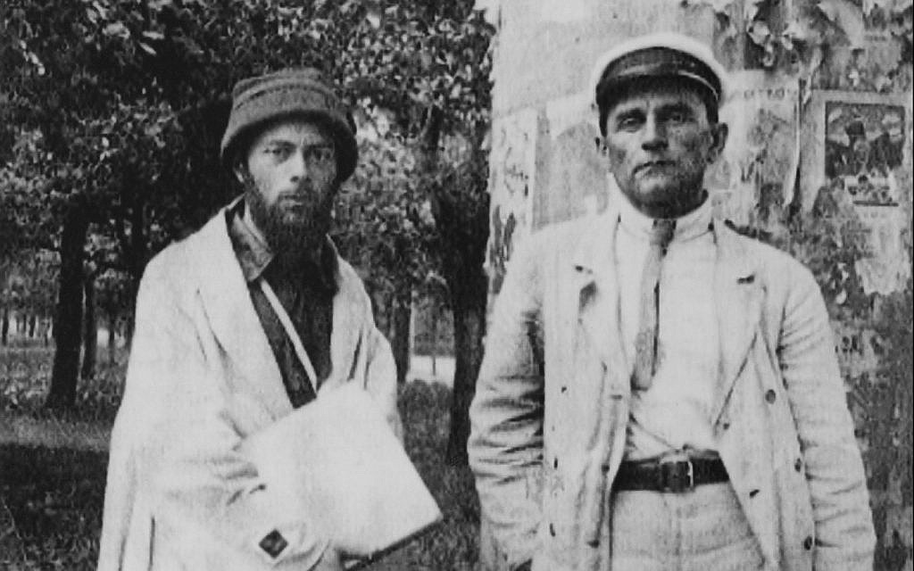 El Lissitzky (left) and Kazimir Malevich, summer 1920. (Private collection/ The Jewish Museum)