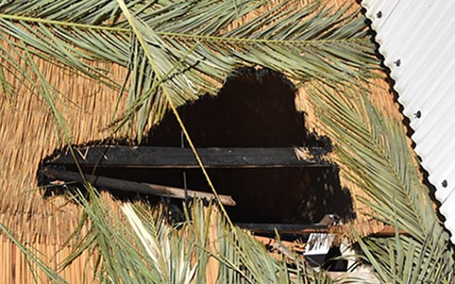 Illustrative: A broken Sukkah (Israel police)