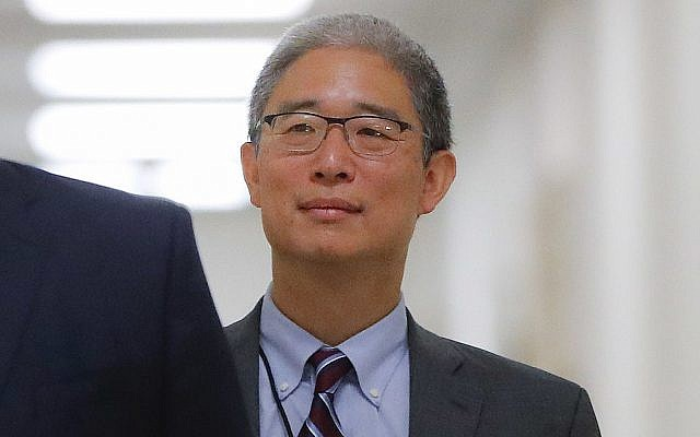In this photo from August 28, 2018, Justice Department official Bruce Ohr arrives for a closed hearing of the House Judiciary and House Oversight committees on Capitol Hill in Washington. (AP Photo/Pablo Martinez Monsivais)