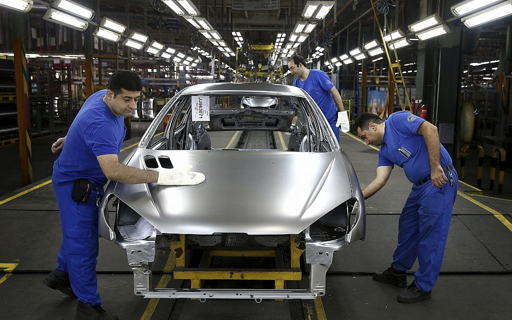Iran's domestic car market stalls as nuclear deal falters | The Times of Israel