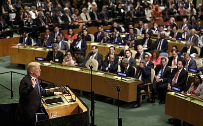 In this Sept. 19, 2017, file photo, President Donald Trump speaks during the United Nations General Assembly at UN headquarters (AP/Seth Wenig, File)