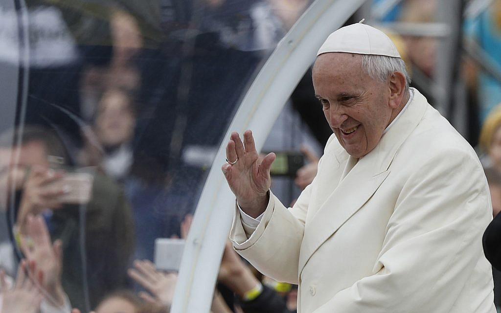 Pope quips, 'I am the devil,' next to John Paul II | The Times of Israel