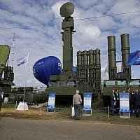 In this file photo taken on Tuesday, August 27, 2013, a Russian air defense missile system Antey 2500, or S-300 VM, is on display at the opening of the MAKS Air Show in Zhukovsky outside Moscow, Russia. (AP Photo/Ivan Sekretarev, File)