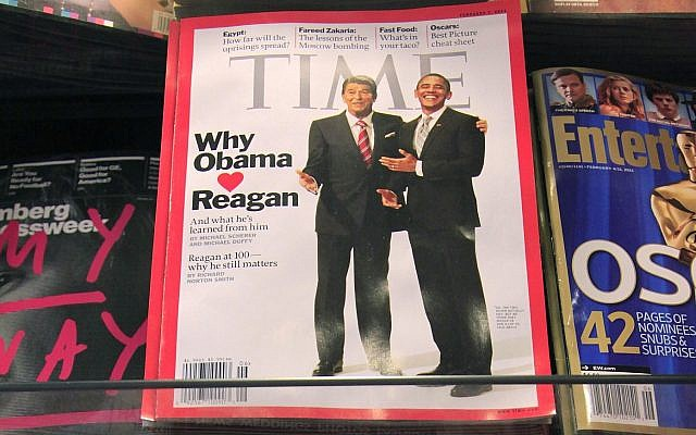 In this photo from Monday, January 31, 2011, Time Magazine is displayed on a New York newsstand. (AP/Mark Lennihan)