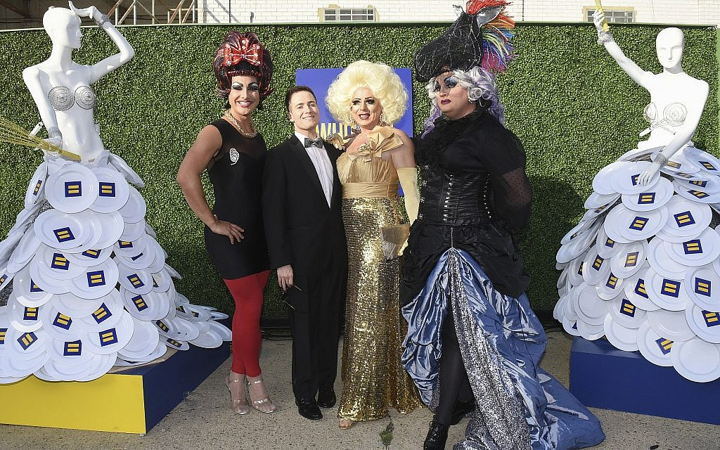 From left, Felicia Beefeater, Randy Rainbow, Tula, and Helluva Bottom Carter at the Human Rights Campaign's Chefs for Equality event at Dock5 at Union Market on Tuesday, September 19, 2017 in Washington. (Kevin Wolf/AP Images for Human Rights Campaign)