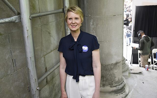 New York Democratic gubernatorial candidate Cynthia Nixon speaks at OZY Fest in Central Park on July 21, 2018, in New York. (Photo by Evan Agostini/Invision/AP)