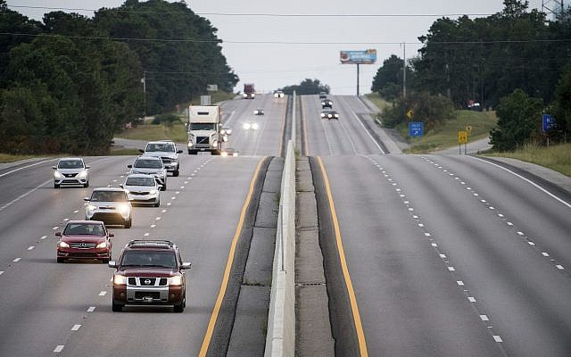 Traffic moves west on all lanes of I-26 Tuesday Sept. 11 2018 in Columbia S.C