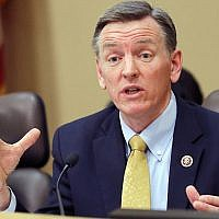 In this Dec. 2013, file photo, US Representative Paul Gosar, R-Ariz., speaks during a Congressional Field Hearing on the Affordable Care Act in Apache Junction, Ariz. (AP Photo/Matt York, File)