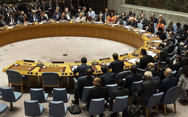 President Donald Trump addresses the United Nations Security Council during the 73rd session of the United Nations General Assembly, at UN headquarters, Sept. 26, 2018. (AP Photo/Craig Ruttle)