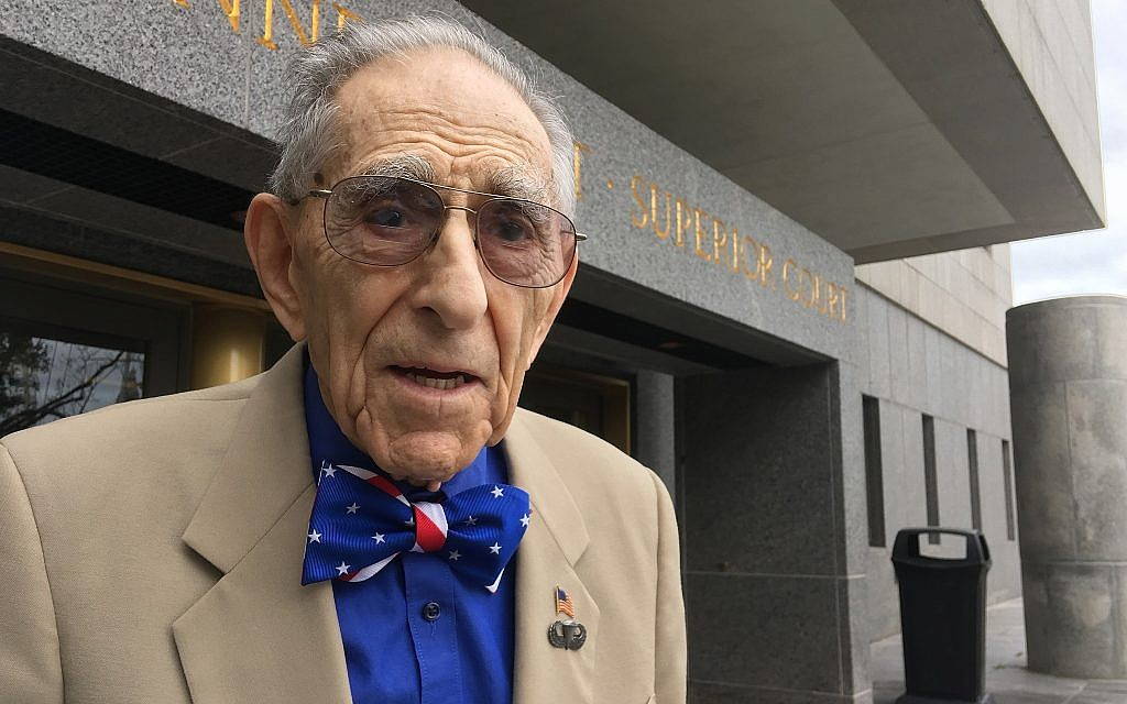 In this photo from September 24, 2018, attorney Morton Katz poses outside Superior Court in Hartford, Connecticut. (AP Photo/Pat Eaton-Robb)