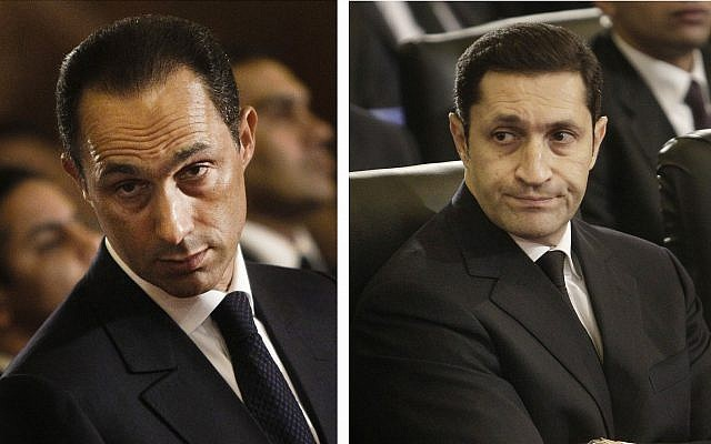 two sons of egypt s mubarak arrested for stock manipulation the