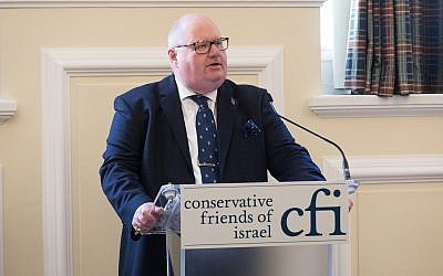 Eric Pickles speaks at a Conservative Friends of Israel event. (Conservative Friends of Israel)