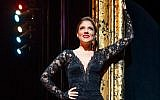 Israeli singer Shiri Maimon as Roxie in the Broadway production of 'Chicago,' August 2018. (courtesy)