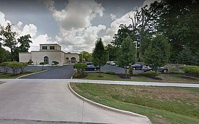 Screen shot of the Etz Chaim Synagogue in Indianapolis. (Google maps)