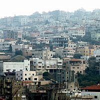 View of the of city Umm El-Fahm in northern Israel, December 31, 2011. (Moshe Shai/Flash90)