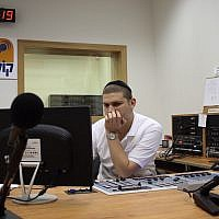 The broadcasting studio of the ultra-Orthodox radio station Kol Barama. July 1, 2009. (Yaakov Naumi/Flash90)